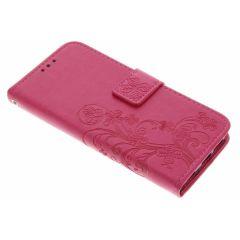 Custodia Portafoglio Fiori di Trifoglio Samsung Galaxy S6 Edge - Rosa