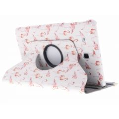 Custodia a Libro Design Girevole a 360° Samsung Galaxy Tab E 9.6 - Flamingo