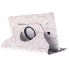Custodia a Libro Design Girevole a 360° Samsung Galaxy Tab E 9.6 - Cubes Rose Gold