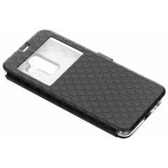 Custodia Portafoglio rombo Samsung Galaxy A6 Plus (2018) - Nero