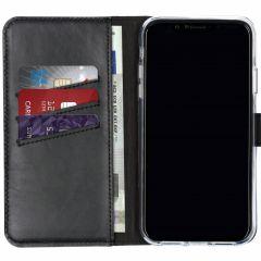 Selencia Custodia Portafoglio in Vera Pelle iPhone Xr - Nero