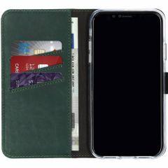 Selencia Custodia Portafoglio in Vera Pelle iPhone Xr - Verde