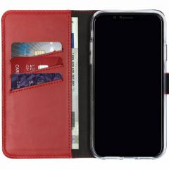 Selencia Custodia Portafoglio in Vera Pelle iPhone Xr - Rosso