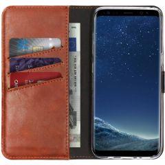 Selencia Custodia Portafoglio in Vera Pelle Samsung Galaxy S8 - Marrone