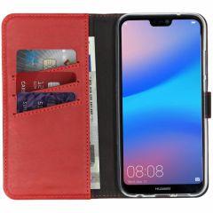 Selencia Custodia Portafoglio in Vera Pelle Huawei P20 Lite - Rosso