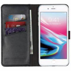 Selencia Custodia Portafoglio in Vera Pelle iPhone 8 Plus / 7 Plus - Nero
