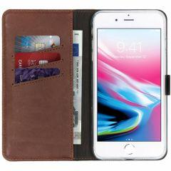 Selencia Custodia Portafoglio in Vera Pelle iPhone 8 Plus / 7 Plus - Marrone