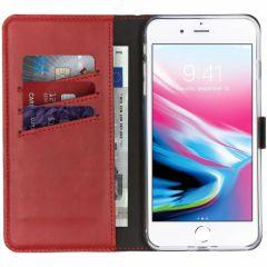 Selencia Custodia Portafoglio in Vera Pelle iPhone 8 Plus / 7 Plus - Rosso
