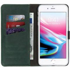 Selencia Custodia Portafoglio in Vera Pelle iPhone 8 Plus / 7 Plus - Verde