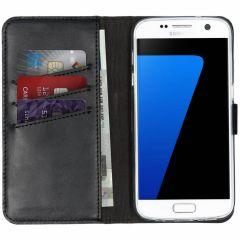 Selencia Custodia Portafoglio in Vera Pelle Samsung Galaxy S7 - Nero