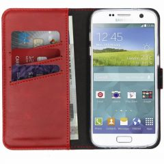 Selencia Custodia Portafoglio in Vera Pelle Samsung Galaxy S7 - Rosso