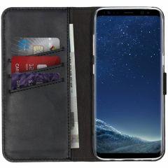 Selencia Custodia Portafoglio in Vera Pelle Samsung Galaxy S8 - Nero