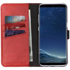 Selencia Custodia Portafoglio in Vera Pelle Samsung Galaxy S8 - Rosso
