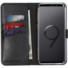 Selencia Custodia Portafoglio in Vera Pelle Samsung Galaxy S9 - Nero