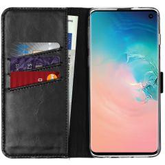 Selencia Custodia Portafoglio in Vera Pelle Samsung Galaxy S10 - Nero