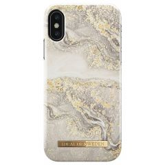 iDeal of Sweden Fashion Cover iPhone X / Xs - Sparkle Greige Marble