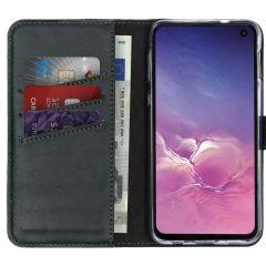 Selencia Custodia Portafoglio in Vera Pelle Samsung Galaxy S10e - Verde