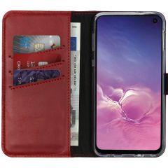 Selencia Custodia Portafoglio in Vera Pelle Samsung Galaxy S10e - Rosso