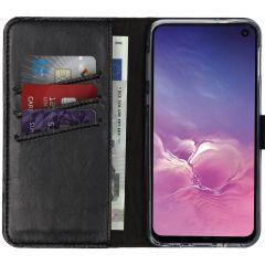 Selencia Custodia Portafoglio in Vera Pelle Samsung Galaxy S10e - Nero