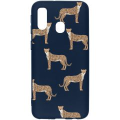 Cover Design a Colori Samsung Galaxy A40 - Cheetah Illustration