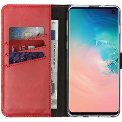 Selencia Custodia Portafoglio in Vera Pelle Samsung Galaxy S10 - Rosso