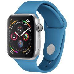 iMoshion Cinturino in Silicone Apple Watch Series 1 t/m 6 / SE - Blu