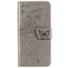 Custodia Portafoglio a Farfalla Huawei Nova 5t / Honor 20 - Grigio