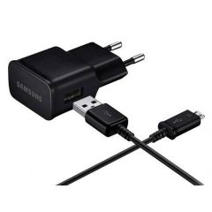 Samsung Adattatore per ricarica 2A + Cavo da Micro-USB a USB - Nero