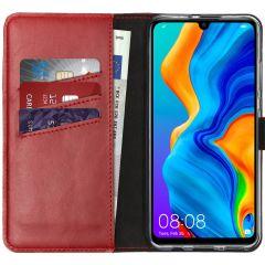 Selencia Custodia Portafoglio in Vera Pelle Huawei P30 Lite - Rosso