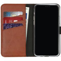 Selencia Custodia Portafoglio in Vera Pelle iPhone 11 Pro - Marrone chiaro