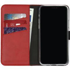 Selencia Custodia Portafoglio in Vera Pelle iPhone 11 Pro - Rosso