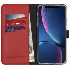 Selencia Custodia Portafoglio in Vera Pelle iPhone 11 Pro Max - Rosso