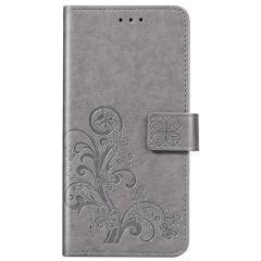 Custodia Portafoglio Fiori di Trifoglio Samsung Galaxy A01 - Grigio