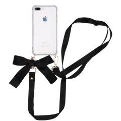 iMoshion Cover con Cordino - Satin iPhone 8 Plus / 7 Plus - Nero