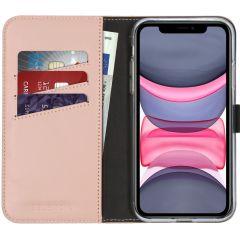 Selencia Custodia Portafoglio in Vera Pelle iPhone 11 - Rosa