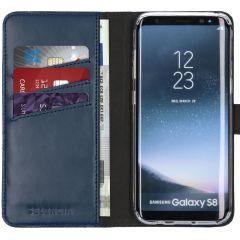 Selencia Custodia Portafoglio in Vera Pelle Samsung Galaxy S8 - Blu