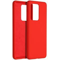 Accezz Cover in Silicone Liquido Samsung Galaxy S20 Ultra - Rosso
