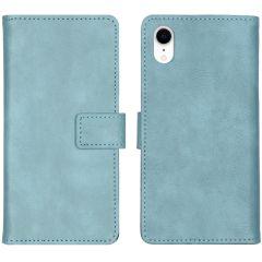 iMoshion Custodia Portafoglio de Luxe iPhone Xr - Azzurro
