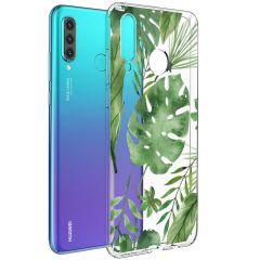 iMoshion Cover Design Huawei P30 Lite - Monstera Leaves