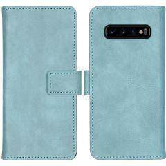iMoshion Custodia Portafoglio de Luxe Samsung Galaxy S10 - Azzurro