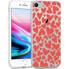 iMoshion Cover Design iPhone SE (2020) / 8 / 7 / 6s - Full of Hearts Red