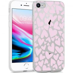 iMoshion Cover Design iPhone SE (2020) / 8 / 7 / 6s - Full of Hearts Pink