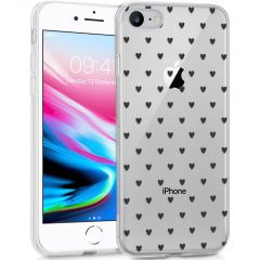 iMoshion Cover Design iPhone SE (2020) / 8 / 7 / 6s - Hearts All Over Black
