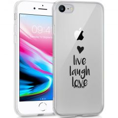 iMoshion Cover Design iPhone SE (2020) / 8 / 7 / 6 - Live Laugh Love