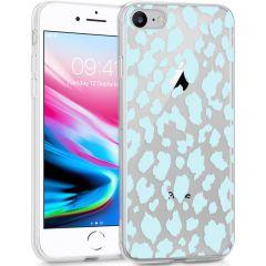 iMoshion Cover Design iPhone SE (2020) / 8 / 7 / 6s - Design Leopard Blue