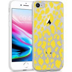 iMoshion Cover Design iPhone SE (2020) / 8 / 7 / 6s - Design Leopard Yellow