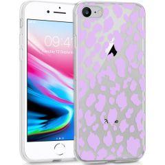 iMoshion Cover Design iPhone SE (2020) / 8 / 7 / 6s - Design Leopard Lilac