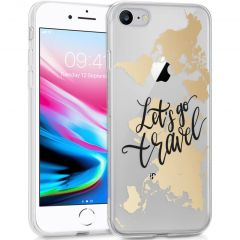 iMoshion Cover Design iPhone SE (2020) / 8 / 7 / 6s - Let's Go Travel