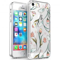 iMoshion Cover Design iPhone 5 / 5s / SE - Vintage Flowers