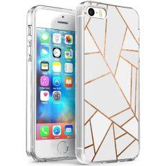 iMoshion Cover Design iPhone 5 / 5s / SE - White Graphic